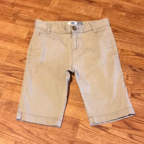 NWT +Free Shipping++ Old Navy Boys Built-In Flex Twill Uniform Shorts Size 10